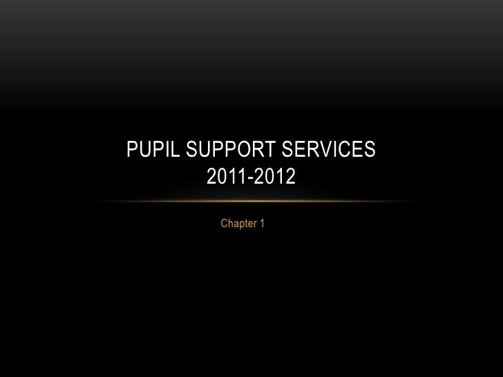 Chapter 1<br />Pupil support Services2011-2012<br />