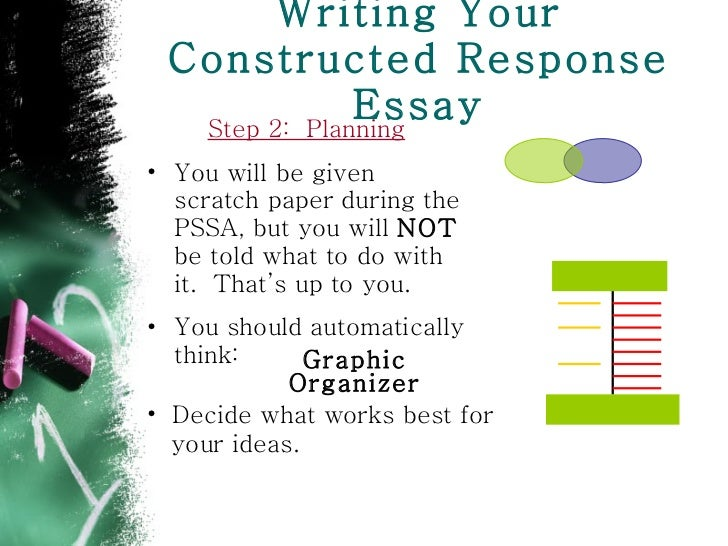 Constructed response essay