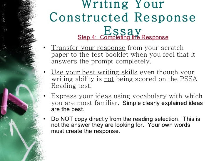 steps to write a response essay Response to literature: purpose and tools the 5-paragraph essay organizer: follow the steps out- story we are going to write a response.