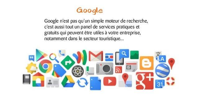 Google Google n'est pas qu'un simple moteur de recherche, c'est aussi tout un panel de services pratiques et gratuits qui ...