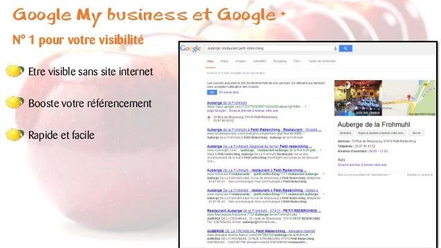 Google My business et Google + N° 1 pour votre visibilité Etre visible sans site internet Booste votre référencement Rapid...