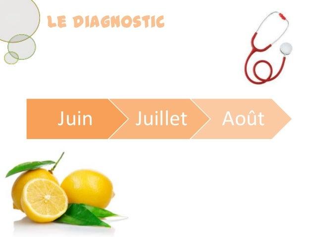 Juin Juillet AoûtLe diagnostic