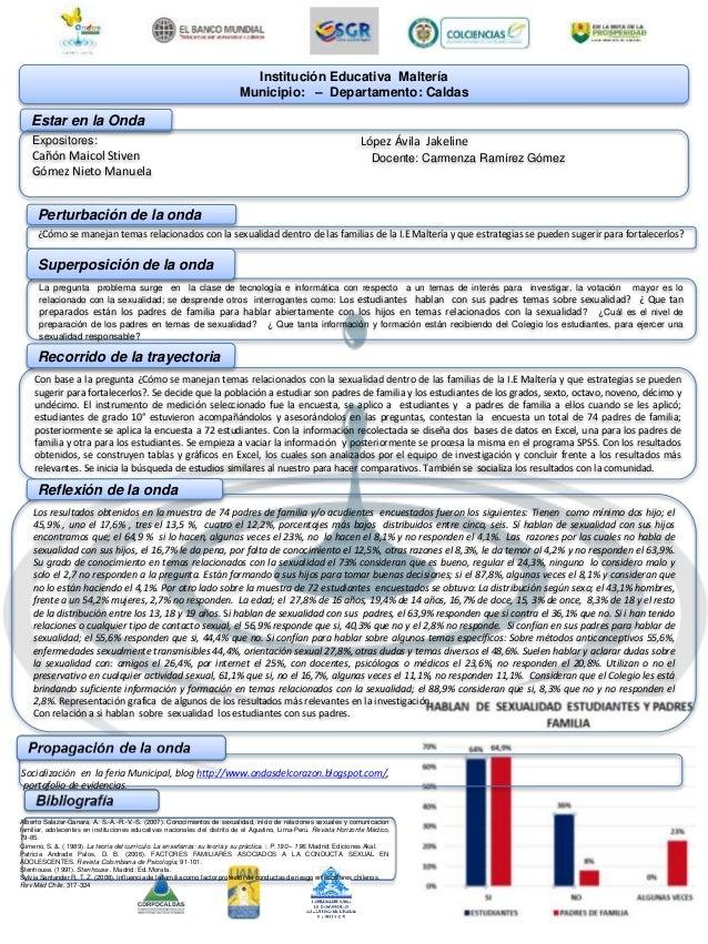 Institución Educativa Maltería Municipio: – Departamento: Caldas Estar en la Onda Expositores: Cañón Maicol Stiven Gómez N...