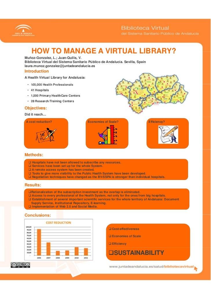 HOW TO MANAGE A VIRTUAL LIBRARY?Muñoz-Gonzalez, L.; Juan-Quilis, V.Biblioteca Virtual del Sistema Sanitario Público de And...