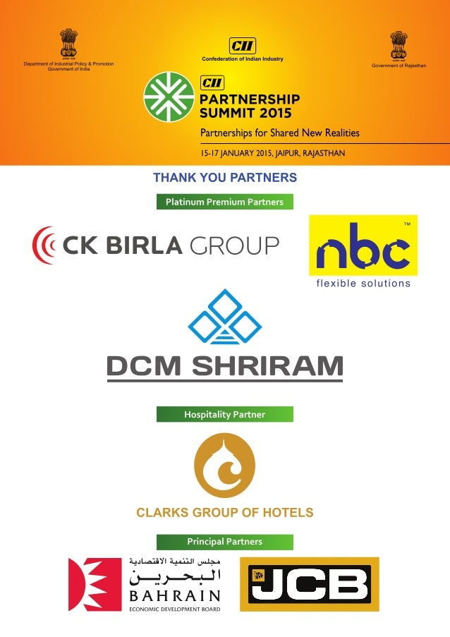 Partnership Summit Theme Document January 2015 Slide 3
