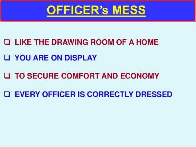 Officers mess etiquette