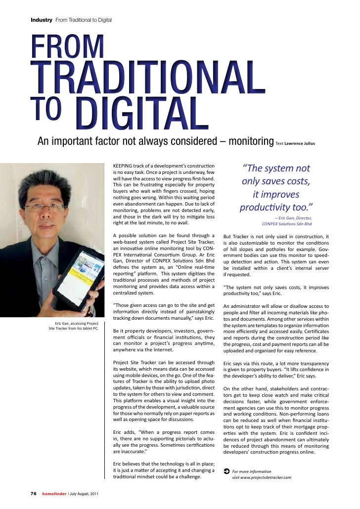 Industry From Traditional to DigitalFromTradiTionalTo digiTal     An important factor not always considered – monitoring T...