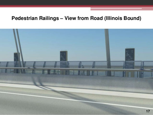 Pedestrian Railings – View from Road (Illinois Bound)  17