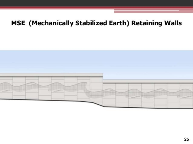 MSE (Mechanically Stabilized Earth) Retaining Walls  25
