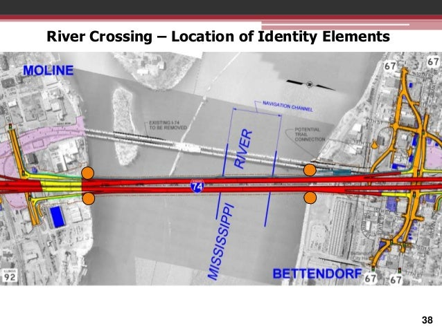 River Crossing – Location of Identity Elements  38