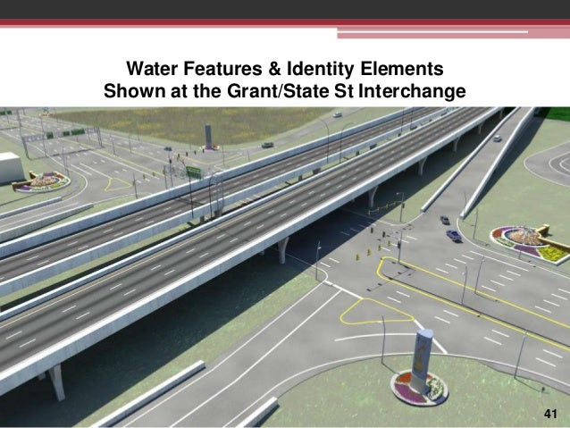 Water Features & Identity Elements Shown at the Grant/State St Interchange  41