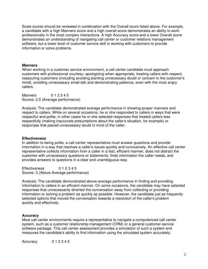 Call Center - Customer Service Scenarios Slide 2