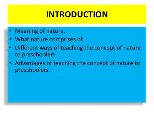 Pstti -Introducing nature to a pre schooler Slide 3