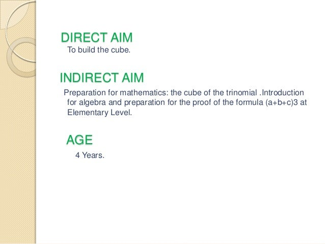 Direct and indirect preparation for writing in montessori