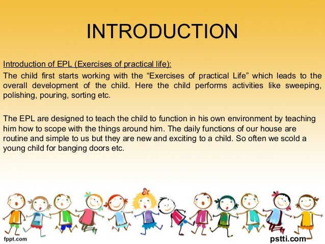 exercises of practical life activities