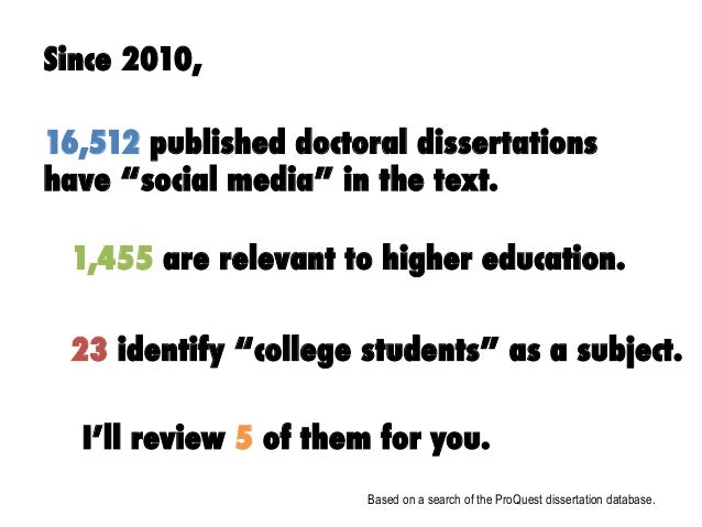 The Role of Social Media in Today's College Student Experience