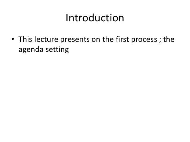 agenda setting 3 Agenda-setting and rhetorical framing 3 agenda-setting and rhetorical  framing by semantic proximity: multi-dimensional concept mapping of network  tv.