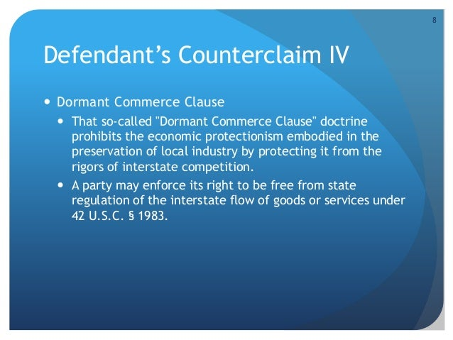 Essay dormant commerce clause