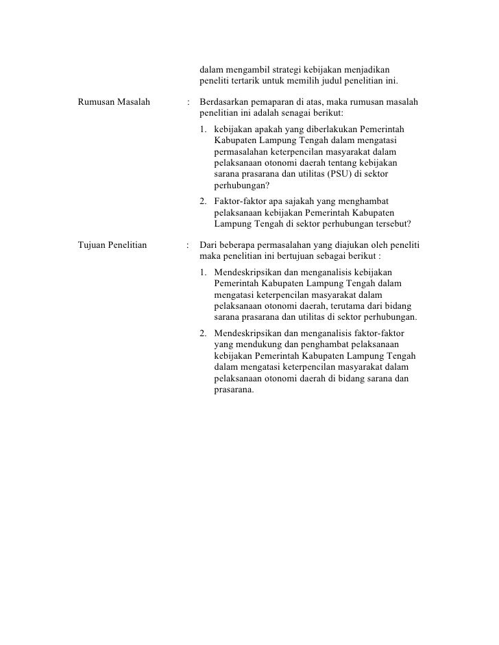 Outline Skripsi Administrasi Negara