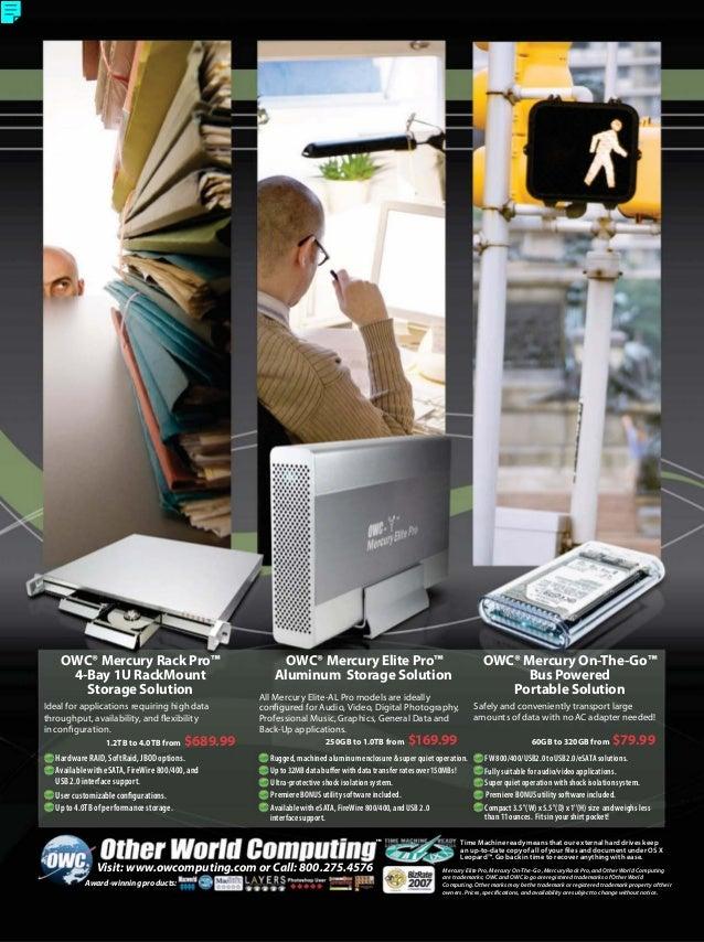 OWC® Mercury Rack Pro™ 4-Bay 1U RackMount Storage Solution OWC® Mercury On-The-Go™ Bus Powered Portable Solution Ideal for...
