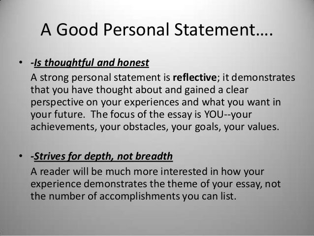 Writing college admissions essay vs personal statement