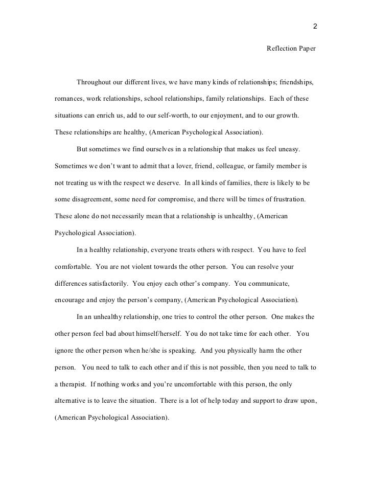 personal reflective essay on relationships Homepage writing samples academic writing samples essay samples reflective essay samples facebook friendships relationships are in a reflective.