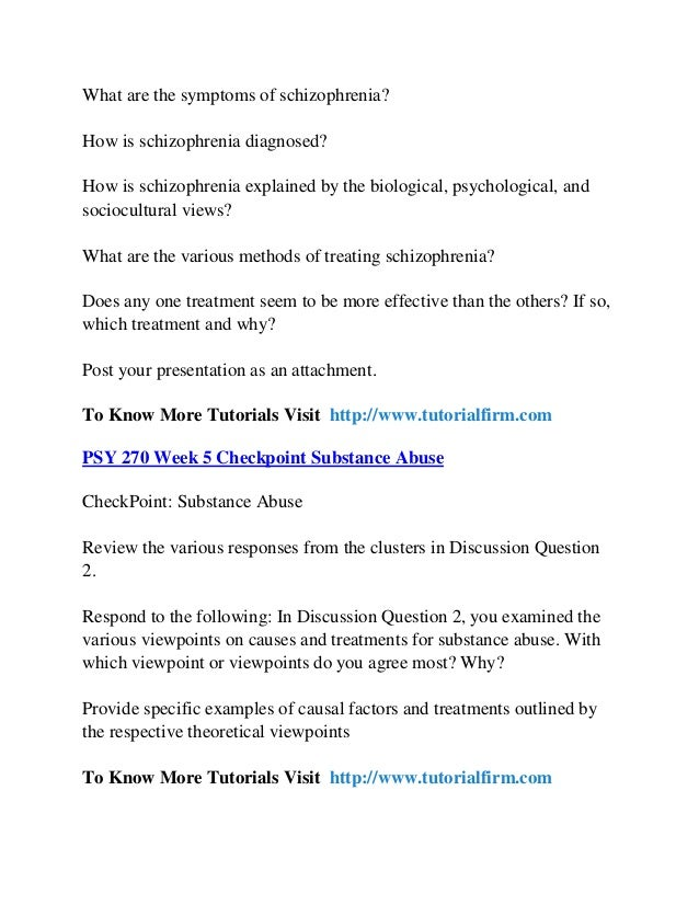 schizophrenia case study psy 270 Case study (schizophrenia) benny is 52 years old and has been working as a driver for a postal company for the past 28 years he had a very cheerful and normal childhood, with sufficient caring from parents.