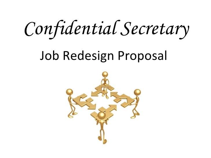 Confidential Secretary Job Redesign Proposal