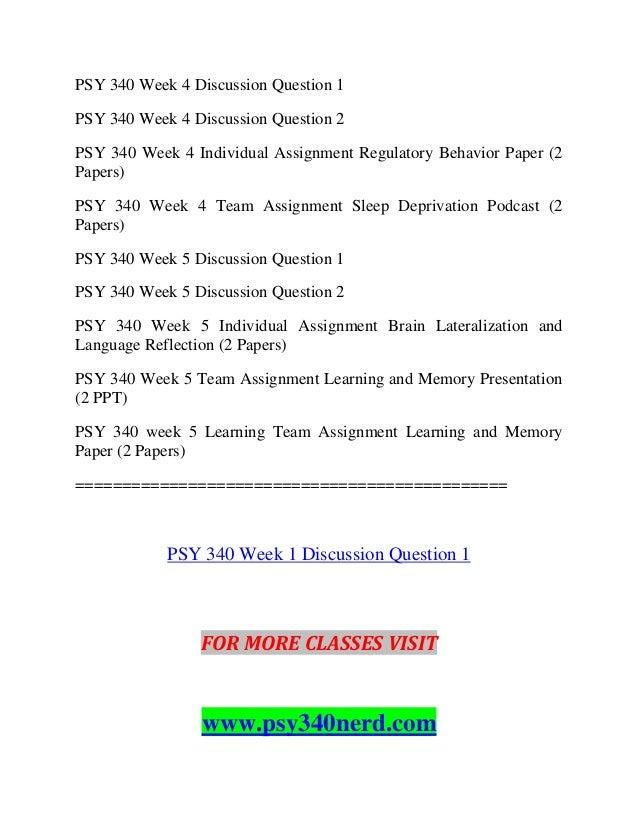 Psy 340 week 1 biological psychology paper essay on random acts of kindness