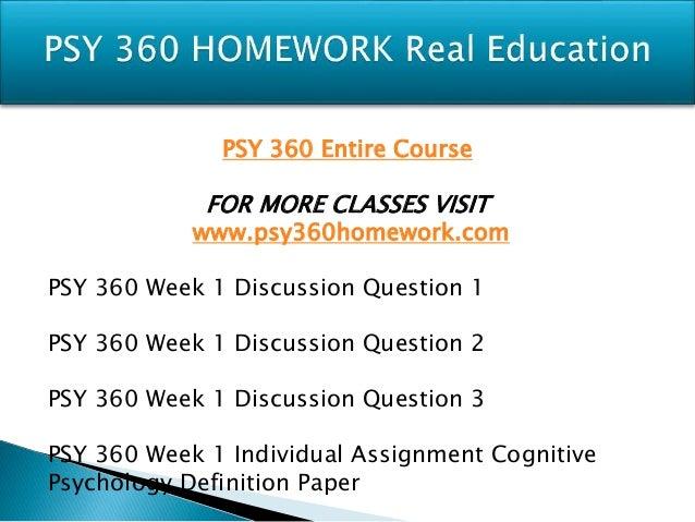 Cognitive Psychology PSY/360