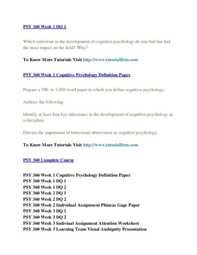 cognitive psychology definition paper
