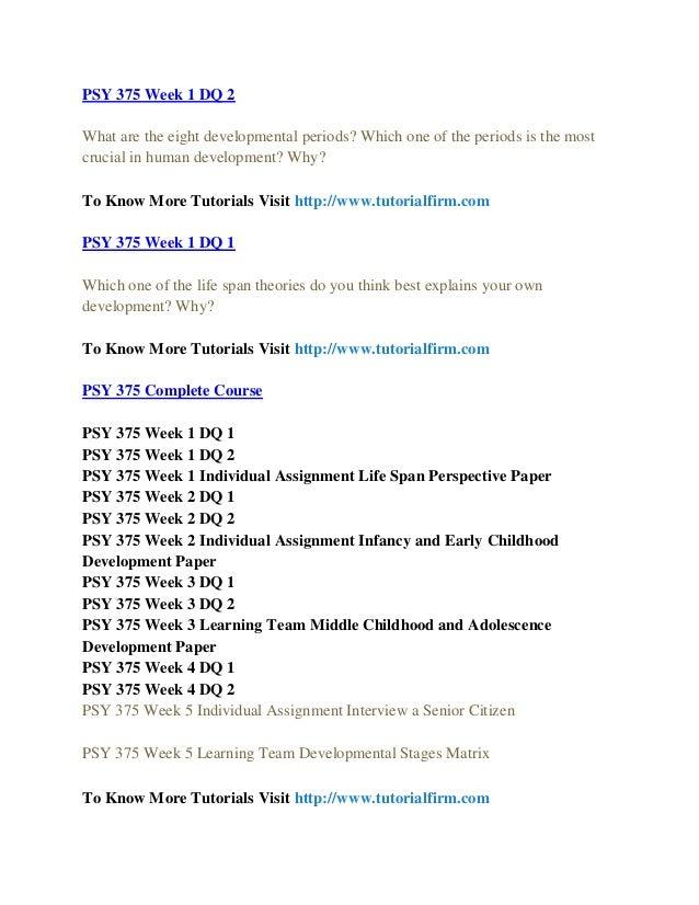 PSY 375 UOP Course Tutorial/Tutorialrank