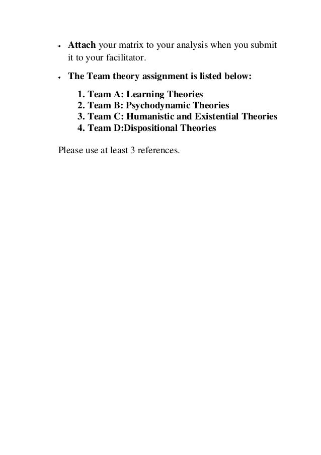 Humanistic/existential personality theories