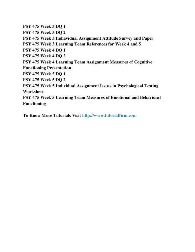 psy 475 measures of cognitive functioning presentation Psy 475 week 4 team assignment measures of cognitive functioning presentation (2 sets) click here to buy the tutorial  .