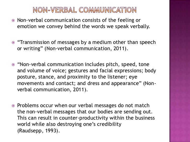 roles of verbal and nonverbal communication Nonverbal communication  nonverbal communication cues can play five roles:  you may be picking up on a mismatch between verbal and nonverbal cues.