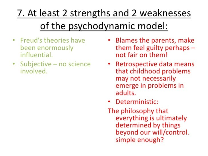 strength and weaknesses psychosexual theory of freud Developmental psychology gender development  acquired during the third stage of psychosexual development,  obviously conflicts with freud's theory.