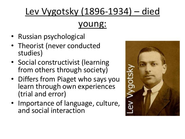 piaget and vygotsky on eating disorders Eating disorders dissociative disorders impulse control disorders  vygotsky's social developmental emphasis  angela oswalt, msw  though piaget's basic ideas and observations have stood up very well despite years of research scrutiny, the specifics of his work as originally communicated are now considered out of date.