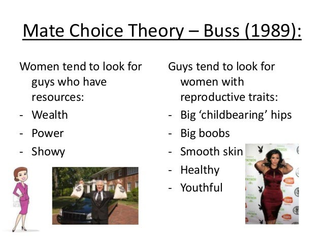 mate selection theories Attraction and mate-selection theories individuals and families: diverse perspectives unit 3: chapter 7 how do we select the person we marry most marriages in canada are a result of free-choice mate selection where people are attracted to one another, fall in love, and make the decision to.