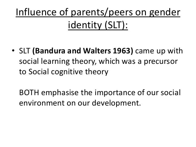 the influence of family peers and media on gender identity Parental influence on children's socialization to gender roles  (1)school of  home economics and family ecology, university of akron, ohio 44325-6103,  usa  then reinforced by the child's peers, school experience, and television  viewing.
