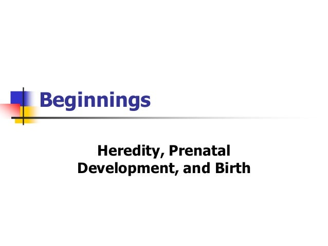 Beginnings  Heredity, Prenatal  Development, and Birth