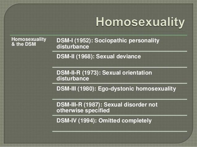 Dsm iii ego-dystonic homosexuality statistics