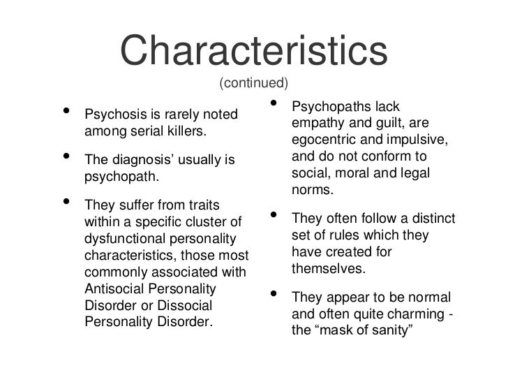 an introduction to the psychological profiling of serial killers High profile cases such as the backpacker murders in new south wales and snowtown murders in south australia serve to heighten the public's awareness, and perhaps overstate the threat, of serial murder in australia this contributes to a lack of understanding of serial murder, especially regarding the offender profile.