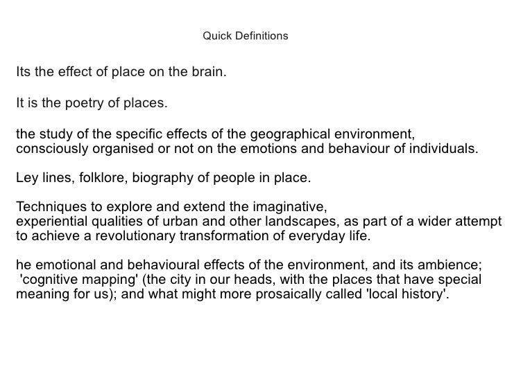 Psychogeography at geekup leeds Slide 2