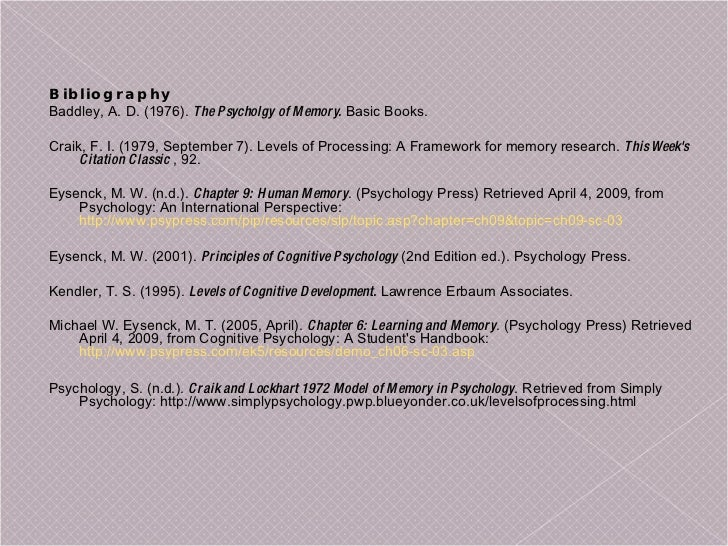 levels of processing theory essay Psycholinguistics/models of speech production this model consists of four levels of processing a spreading activation theory of retrieval and sentence.