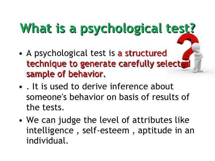 Psychometric Assessment  Slide 2