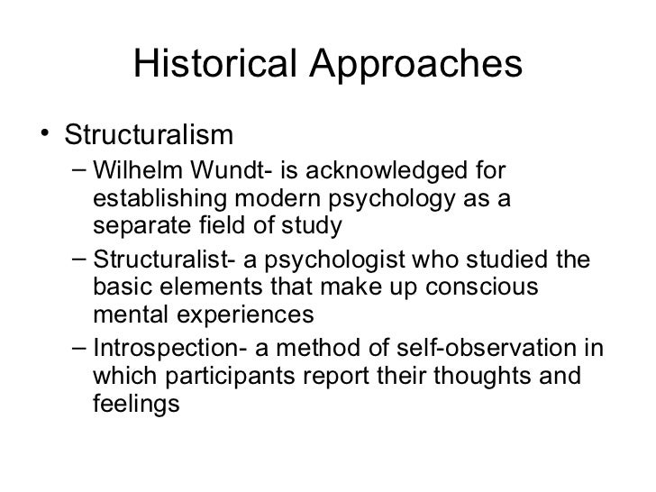psychologys history and approaches