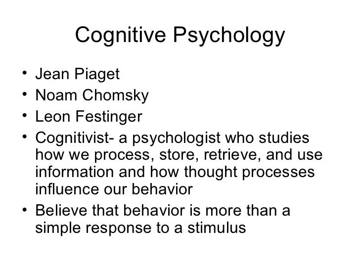 psychology chapter 1 2018-8-8  cognition chapter 1: introduction fundamentals of cognitive psychology (kellogg) fall 2013 mark van selst san jose state university.