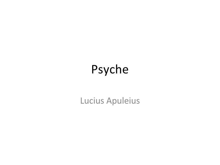 Psyche Lucius Apuleius