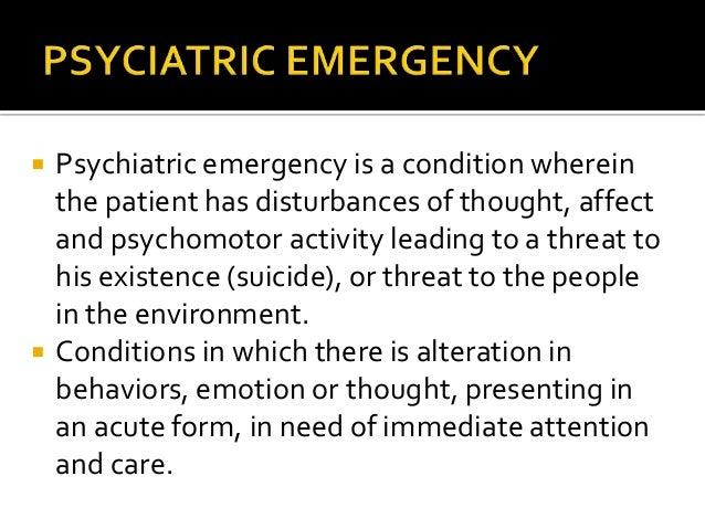 Psychiatric emergencies Slide 3