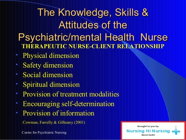 self awareness in psychiatric nursing The practice of self-awareness in psychiatric nursing is an important step toward gaining self-knowledge, as well as a useful tool to facilitate mental health in patients references.